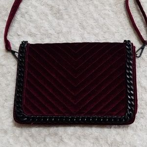 Aldo Chained Velvet Crossbody Purse